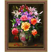 """Набор для выкладывания мозаики Алмазная живопись """"Розы и лилии"""""""