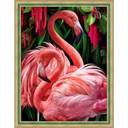 """Набор для выкладывания мозаики Алмазная живопись """"Пара фламинго"""""""