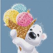 """Набор для вышивания крестом Белоснежка """"Медвежонок с мороженым"""""""