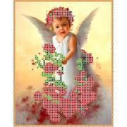"""Канва/ткань с нанесенным рисунком Каролинка """"Ангел в розах"""""""