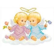 """Канва/ткань с нанесенным рисунком Каролинка """"Два ангелочка"""""""