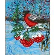 """Канва/ткань с нанесенным рисунком Каролинка """"Снегирь"""""""
