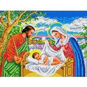 """Канва/ткань с нанесенным рисунком Каролинка """"Иисус в колыбели"""""""