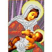 """Канва/ткань с нанесенным рисунком Каролинка """"Богородица Кормящая"""""""
