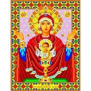 """Канва/ткань с нанесенным рисунком Каролинка """"Богородица Неупиваемая чаша"""""""