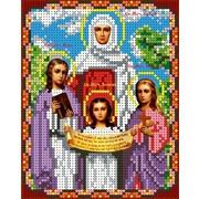 """Канва/ткань с нанесенным рисунком Каролинка """"Святые Вера, Надежда, Любовь"""""""