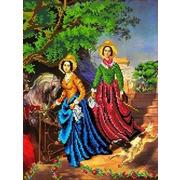 """Канва/ткань с нанесенным рисунком Каролинка """"Две сестры"""""""