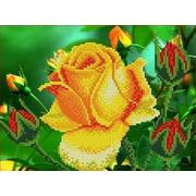 """Канва/ткань с нанесенным рисунком Каролинка """"Роза"""""""