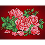 """Канва/ткань с нанесенным рисунком Каролинка """"Аромат розы"""""""