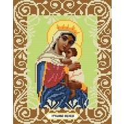 """Канва/ткань с нанесенным рисунком Божья коровка """"Богородица Отчаянных Единая Надежда"""""""
