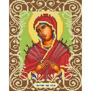 """Канва/ткань с нанесенным рисунком Божья коровка """"Богородица Умягчение Злых Сердец"""""""