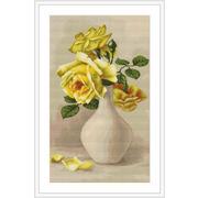 """Гобелен Luca-S """"Желтые розы в белой вазе"""""""