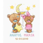 """Набор для вышивания крестом Luca-S """"Метрика, Анатолий и Мария"""""""