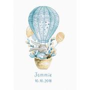 """Набор для вышивания крестом Luca-S """"Kролик на воздушном шаре"""""""