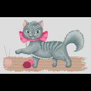 """Набор для вышивания крестом Luca-S """"Кити"""""""