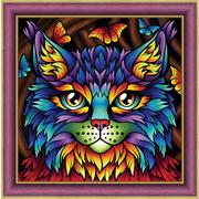 """Набор для выкладывания мозаики Алмазная живопись """"Радужный кот"""""""