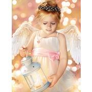"""Набор для выкладывания мозаики Алмазная живопись """"Ангел с фонариком"""""""