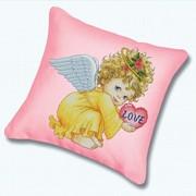 """Набор для вышивания крестом Белоснежка подушки """"Маленький ангел"""""""