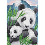 """Набор для вышивания бисером Каролинка """"Мамы и их зверята. Панды"""""""