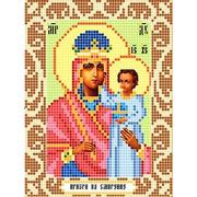 """Канва/ткань с нанесенным рисунком Божья коровка """"Богородица призри на смирение"""""""