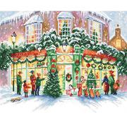 """Набор для вышивания крестом Letistitch """"Christmas Shop"""""""