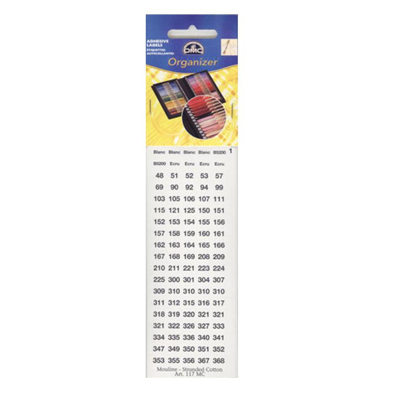 Наклейки с номерами для мулине гамма