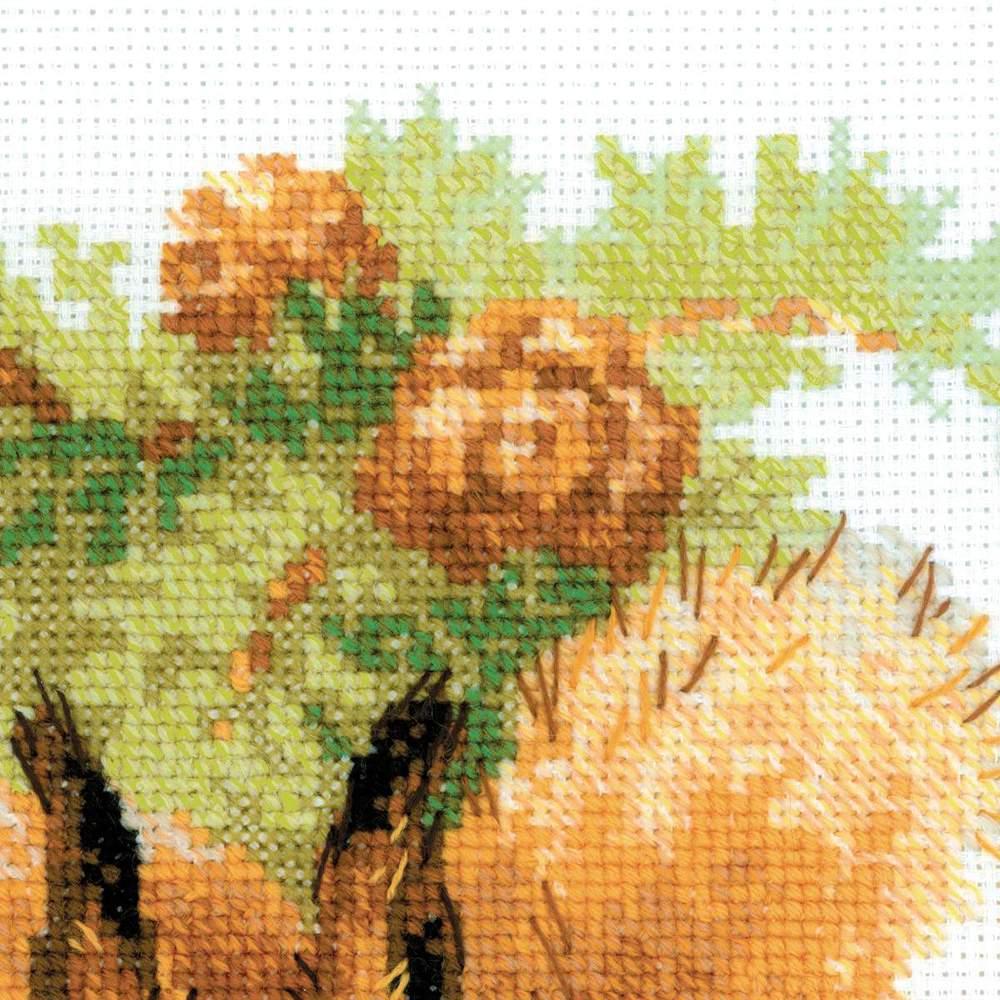 Вышивка риолис белочки