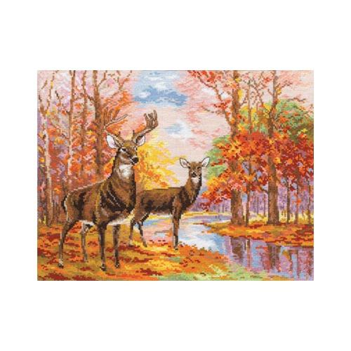 """Набор для вышивания крестом Алиса """"Олени в осеннем лесу"""""""