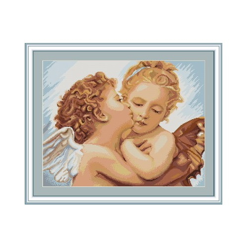 """Набор для вышивания крестом Luca-S """"Первый поцелуй"""""""