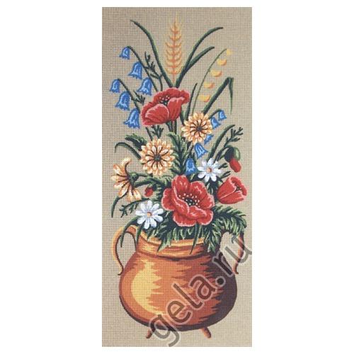 """Канва/ткань с нанесенным рисунком Gobelin-L """"Полевые цветы"""""""