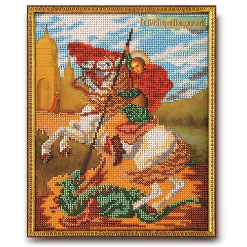 """Набор для вышивания бисером Радуга бисера (Кроше) """"Святой Георгий Победоносец"""""""
