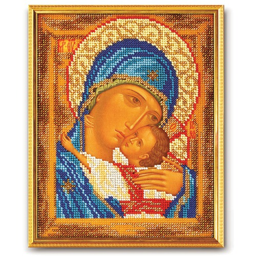 """Набор для вышивания бисером Радуга бисера (Кроше) """"Богородица Умиление"""""""