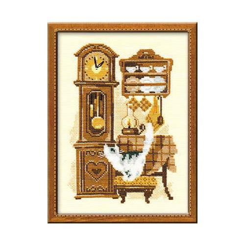 """Набор для вышивания крестом Риолис """"Кошка с часами"""""""