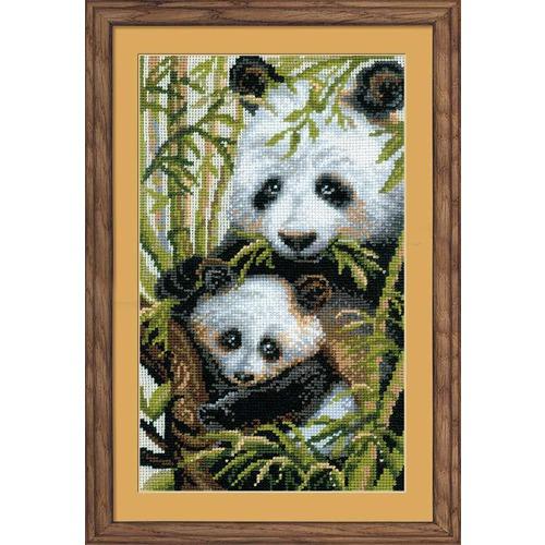 """Набор для вышивания крестом Риолис """"Панда с детёнышем"""""""
