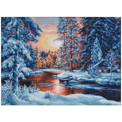 """Набор для вышивания крестом Luca-S """"Зимний закат"""""""