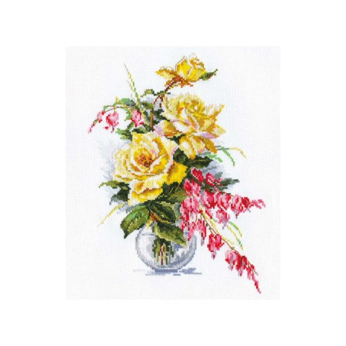"""Набор для вышивания крестом Алиса """"Желтые розы"""""""