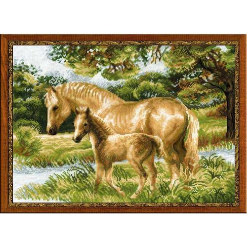 """Набор для вышивания крестом Риолис """"Лошадь с жеребёнком"""""""