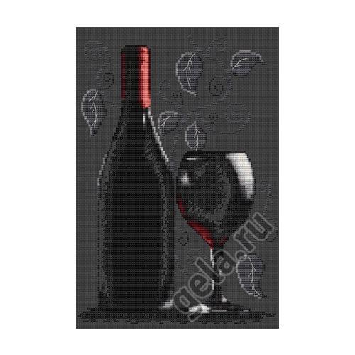 """Набор для вышивания крестом Luca-S """"Бутылка с вином"""""""