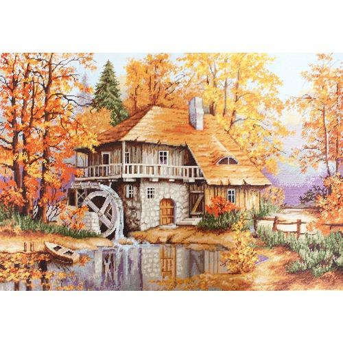 """Набор для вышивания крестом Luca-S """"Осенний пейзаж"""""""