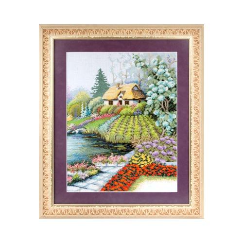 """Набор для вышивания крестом Panna """"Уютный дворик"""""""
