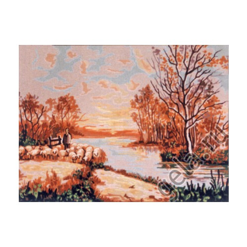 "Канва/ткань с нанесенным рисунком Gobelin-L ""Осень"""
