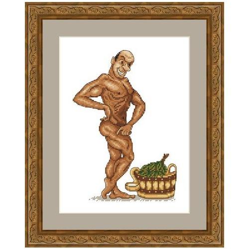 """Набор для вышивания крестом Русский фаворит """"В здоровом теле - здоровый дух!"""""""
