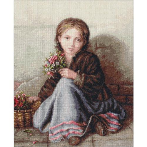 """Набор для вышивания крестом Luca-S """"Портрет девочки"""""""