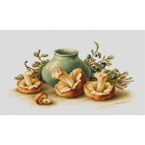 """Набор для вышивания крестом Luca-S """"Натюрморт с грибами"""""""