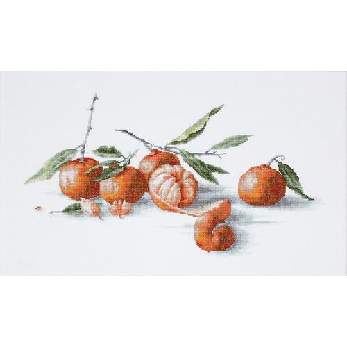 """Набор для вышивания крестом Luca-S """"Натюрморт с мандаринами"""""""