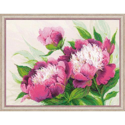 """Набор для вышивания крестом Риолис """"Розовые пионы"""""""