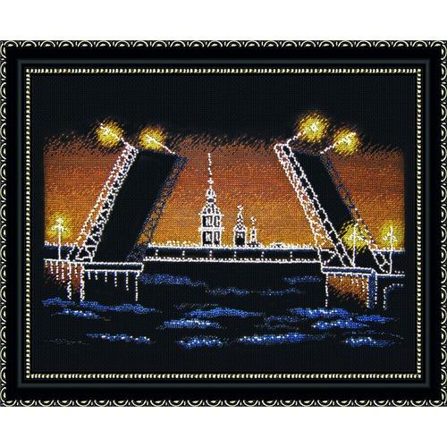 """Набор для вышивания крестом Овен """"Ночной Петербург"""""""