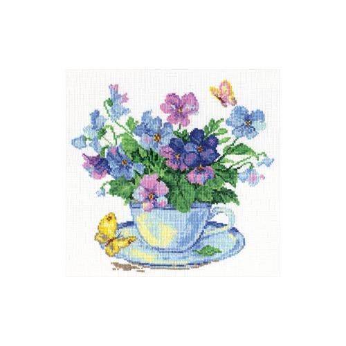 """Набор для вышивания крестом Алиса """"Утренние цветы"""""""