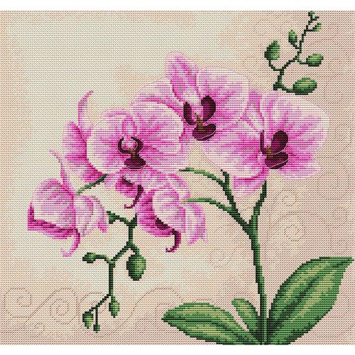 """Набор для вышивания крестом Luca-S """"Орхидеи"""""""
