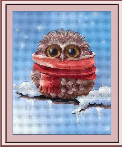 """Набор для вышивания крестом М.П. Студия """"Совенок. Зима"""""""